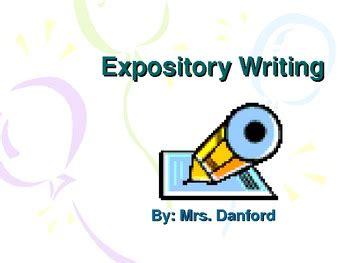 Narrative versus expository essay